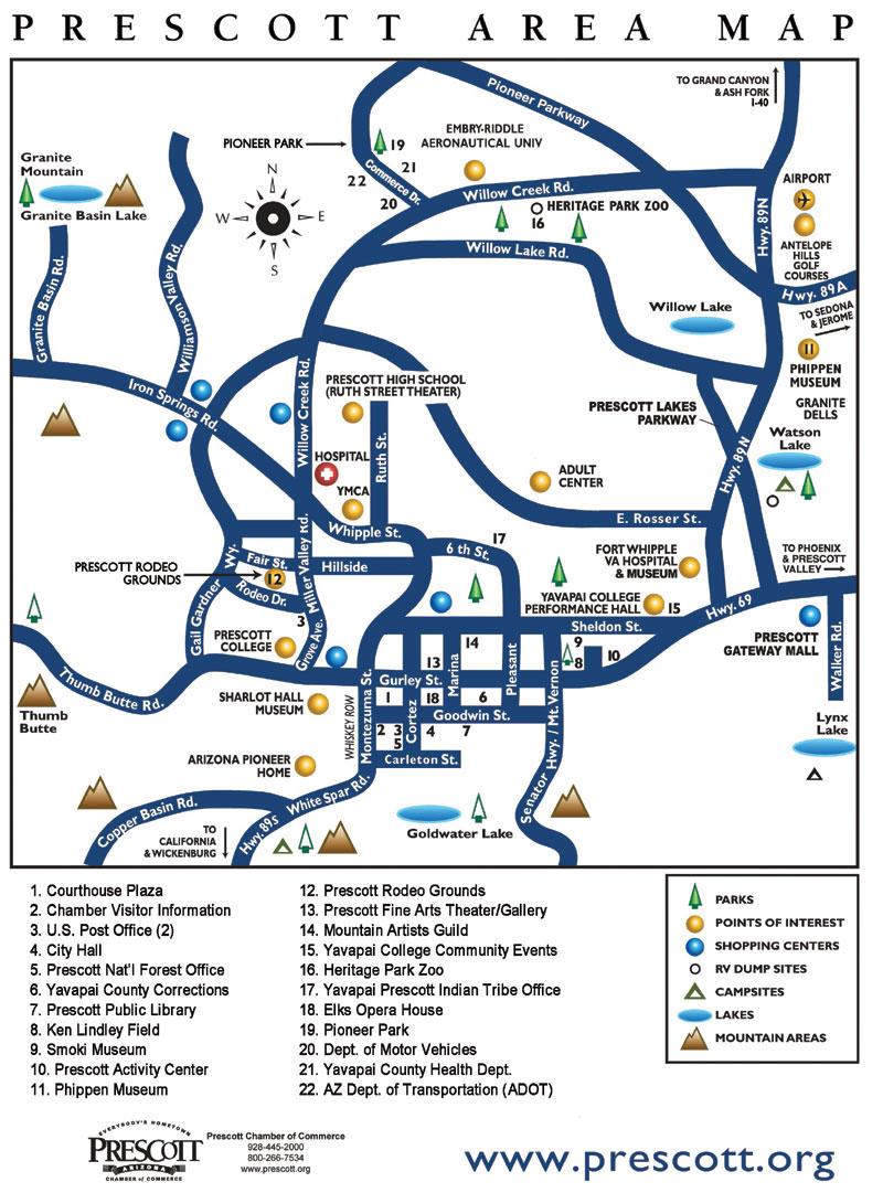AREA MAP | The Dells Prescott